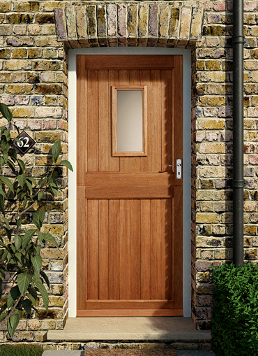 Homeserve securityhardwood doors external doors for Hardwood front doors