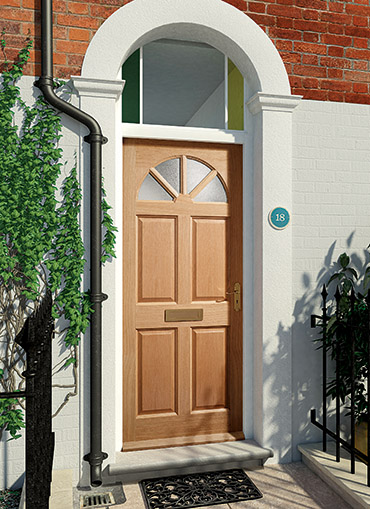 Homeserve securityoak external doors oak doors front for External door with window