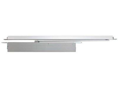 Concealed overhead cam action door closer