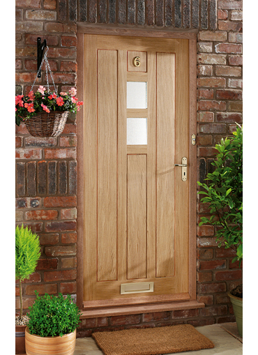 Homeserve securityoak external doors oak doors front for Oak front doors