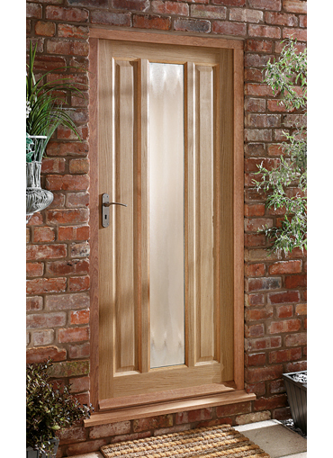 Homeserve securityoak external doors oak doors front for Doors for front door