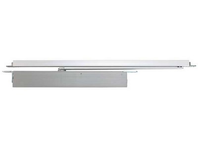 Concealed overhead cam action door closer