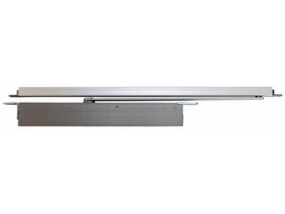 Double action concealed overhead door closer